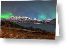 Northern Lights Over Grytoya Greeting Card
