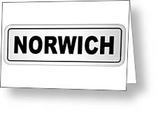 Norwich City Nameplate Greeting Card