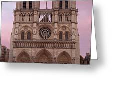 Notre Dame Cathedral Dawn Greeting Card by Jemmy Archer