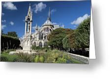 Notre Dame Garden Greeting Card by Jemmy Archer
