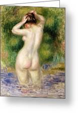 Nude Wading, Circa 1880 Greeting Card