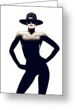 Nude Woman With Hat Greeting Card