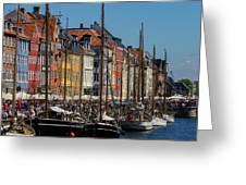 Nyhavn Waterfront In Copenhagen II Greeting Card by William Dickman