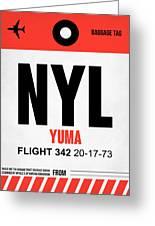 Nyl Yuma Luggage Tag I Greeting Card