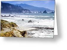 Nz Coastal Drive Greeting Card by Scott Kemper