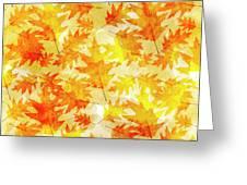 Oak Leaf Pattern Greeting Card