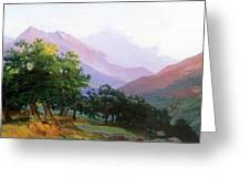 Oaks In The Mountains Of Carrara Greeting Card