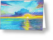 Ocean In The Morning Greeting Card