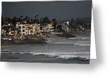 Oceanside California Beach Front Greeting Card