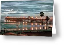 Oceanside Pier At Dusk Greeting Card