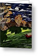 October Moon Shadow Greeting Card