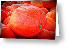 October Pumpkin Greeting Card