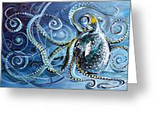 Octopus Of Nine Brains Greeting Card