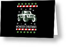 Offroad Monster Truck Christmas Xmas Winter Holidays Greeting Card