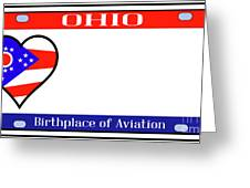Ohio License Plate Greeting Card