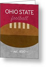 Ohio State Football Minimalist Retro Sports Poster Series 003 Greeting Card