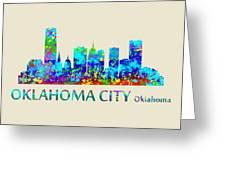 Oklahoma City Watercolor Greeting Card
