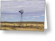 Oklahoma Windmill Greeting Card
