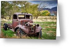 Old Abandoned Chevy Truck Greeting Card