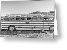 Old Abandoned Vintage Bus Jerome Arizona Greeting Card