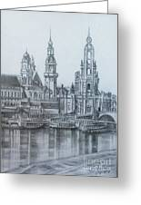 Old City Of Dresden- Dresden Greeting Card