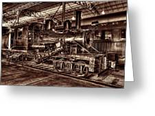 Old Climax Engine No 4 Greeting Card