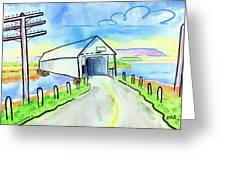 Old Covered Bridge - Avonport N.s. Greeting Card