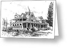 Old Daly Mansion Hamilton Montana Greeting Card