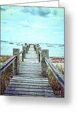 Old Dock Hyannis Port Cape Cod Ma Greeting Card