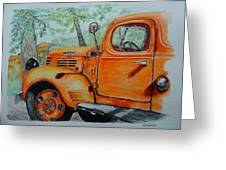 Old Dodge Truck At Patterson Farms Greeting Card