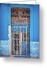 Old Door In Havana Greeting Card