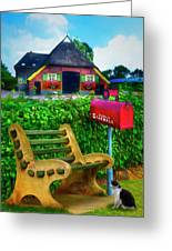 Old Dutch Cottage Painting Greeting Card