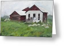 Old Farm Buildings Greeting Card