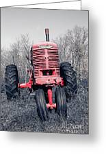 Old Farmall Farm Tractor Color Separation Nh Greeting Card