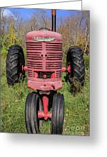 Old Farmall Vintage Tractor Springfield Nh Greeting Card