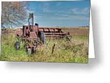 Old Hay Baler Greeting Card