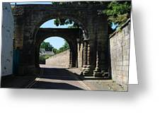 old historic town gate in Hexham Greeting Card