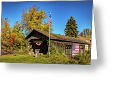 Old Hollow Covered Bridge Greeting Card