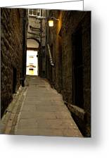 old medieval close in Edinburgh Greeting Card