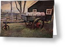 Old Milk Wagon Greeting Card
