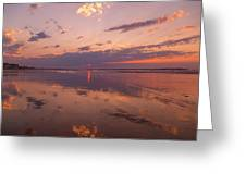 Old Orchard Beach Glorious Sunset Greeting Card