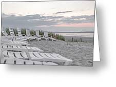 Old Orchard Beach Tranquil Morning Greeting Card