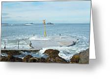 old pier at North berwick and Forth estuary Greeting Card