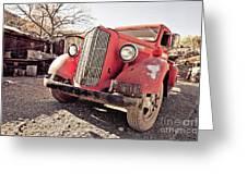 Old Red Truck Jerome Arizona Greeting Card