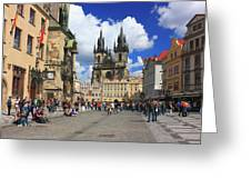 Old Town Square Prague Czech Republic  Greeting Card