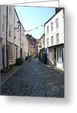 old town street in Hexham Greeting Card