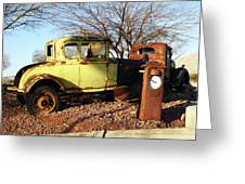 Old Yellow Coupe Greeting Card