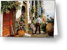 Omino Sulla Bella Strada Greeting Card