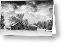 On A Winter Day Monochrome Greeting Card