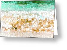 On The Beach Abstract Painting Greeting Card